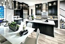 dark kitchen cabinets with light wood floors and awesome floor white