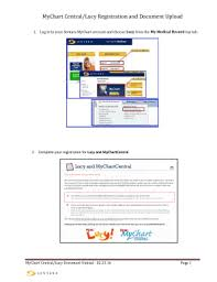 My Chart Sentara Fillable Online Mychart Central Lucy Registration And