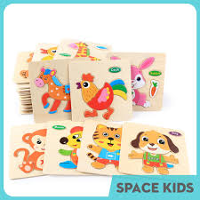 ♥ Đồ chơi gỗ thông minh ghép hình đơn giản Space Kids cho trẻ em từ 1 đến 5  tuổi SK01 ♥