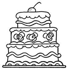 Small Picture Cake clipart coloring page Pencil and in color cake clipart