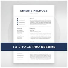 Etsy Resume Template Unique Resume Template 288 And 28 Page Resume Modern CV Template For Etsy