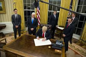 president in oval office. President Trump Had The Oval Office Redecorated With Golden Curtains And Other Details. In E