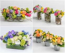 colorful easter spring flower centerpieces