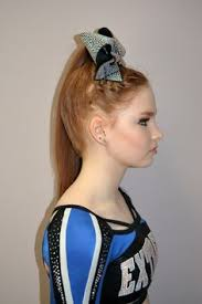 braided cheer hair and contour makeup