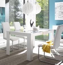 Esstisch Esszimmertisch Tisch Cantara Mit Glasplatte 160x90cm Weiß