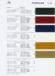 Glasurit Color Chart Glasurit Color Codes And Samples For 1966 Coding Color