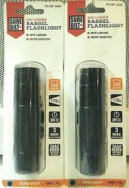 Surebilt Led Light Surebilt 250 Lumen Barrel Led Flashlight Tfl1001 3aaa Water Resistent