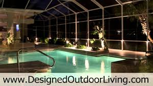 outdoor lighting service for swimming pools inside pool cages and landscapes in sarasota florida you
