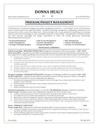 Program Manager Resume Examples Construction Manager Resume Sample Emelcotest Com
