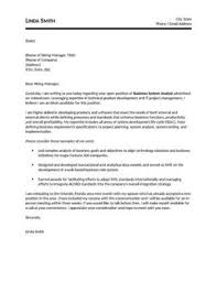 System Analyst Cover Letter Business System Analyst Cover Letter