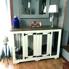 wooden dog crate furniture. Dog Crate Table Cover. Wooden Furniture