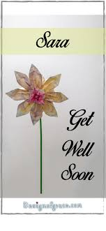 Get Well Soon Origami Greeting Card Design Of Grace