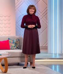 lorraine kelly just wore marks and spencer s new must have 39 50 pleated midi faux leather skirt