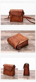 Full Grain Handmade <b>Genuine Leather</b> Small Messenger <b>Bag</b> Cross ...