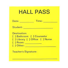 Hallway Pass Template Free Printable Hall Passes Templates School Template U2013 Sddf Us