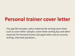 Cover Letter Personal Trainer Envoybpo Com