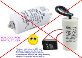 our suppressor capacitors far exceed the original specifications and are x2 rated to 275vac don t accept anything less some vendors try selling er dc
