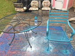 painting metal patio furniture awesome makeovermonday painting 12 year old patio furniture the daily
