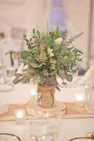 Fall New England Farm Wedding. Mason Jars Wedding CenterpiecesNon Flower ...