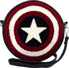 Marvel Captain America Shield Crossbody Bag by Loungefly | Sideshow ...