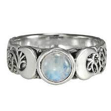 triple moon dess moonstone ring