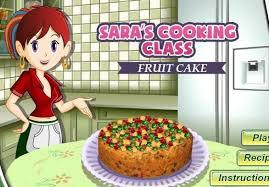 sara cooking cl game fruit cake recipe
