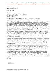 Experienced Teacher Cover Letters Resume Examples Templates Special Education Teacher Cover Letter
