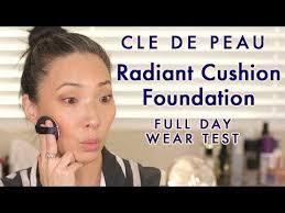 cle de peau radiant cushion foundation full day wear test