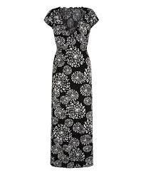 Iska London Size Chart Iska London Black White Dandelion Maxi Dress