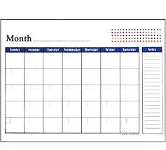 Calendar To Fill In