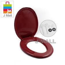 techplas plastic toilet bowl seat cover with s maroon