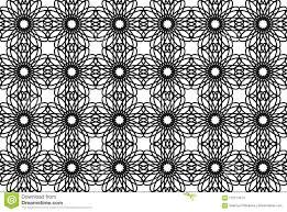 Naadloze Zwart Witte Marokkaanse Textuur Met Bloemen Patroon Voor