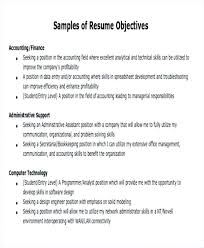 Objective Resume Statements Job Objective Resume Samples Impression