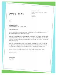 Letterhead Example Official Company Letterhead Template Formal Business Letter