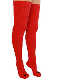 plus size thigh high socks amazon com yogacolors white cotton solid thigh high heart sock red