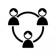 Sns友達ネットワークのシルエット 無料のaipng白黒シルエットイラスト