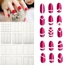 Girl Women French Manicure Nail Sticker Diy Stencil Nail Art Form ...