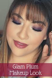 plum makeup look glam makeup look plum eye look purple