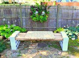 concrete block furniture. diy garden bench made from concrete blocks cinderblock 4x4x10 block furniture a