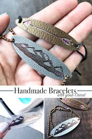 how to make bracelets with leather and your cricut design by jen goode