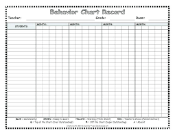 Student Behavior Chart Weekly Behavior Chart For Middle School Students