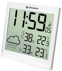 <b>Метеостанция</b> (<b>настенные часы</b>) <b>Bresser</b> TemeoTrend JC LCD с ...