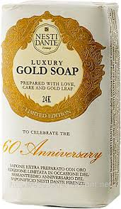 Элитное натуральное <b>мыло</b> - <b>60th Anniversary</b> Gold Leaf ЗОЛОТОЕ