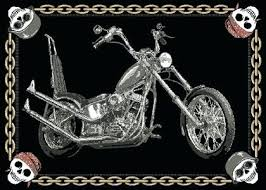harley davidson rugs mtching chin s morcyles latch hook rug kit harley davidson rugs