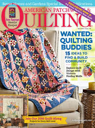 American Patchwork & Quilting April 2016 | AllPeopleQuilt.com & April 2016 Adamdwight.com