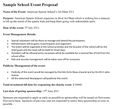 Events Proposal Sample Custom School Event Proposal Template