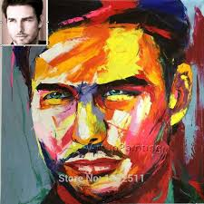 custom portrait personalized canvas oil painting art from photo hand painted francoise nielly palette knife face impasto in painting calligraphy from home