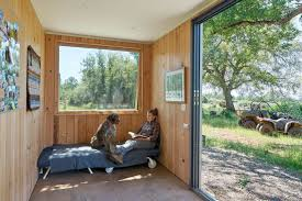 Diy Container Home Off Grid Shipping Container Cabin Has A Warm Wooden Interior