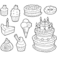Small Picture Candy and Sweets Coloring Pages Surfnetkids