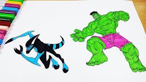 coloring pages ben 10 xlr8 hulk coloring videos ben 10 coloring book 2018